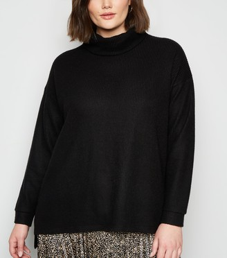 New Look Curves Fine Knit Roll Neck Jumper