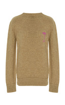 The Elder Statesman Embroidered Palm Monogram Simple Crew