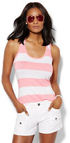 New York & Co. Lounge - Shirred Tank Top - Stripe