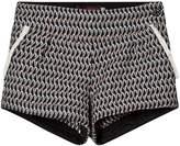 Catimini Navy Jacquard Shorts with Fringe Detail