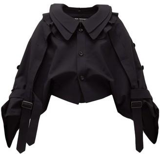 Junya Watanabe Deconstructed Wool-twill Jacket - Womens - Navy