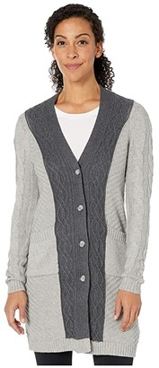 Aventura Clothing Arlette Cardi (Charcoal) Women's Sweater