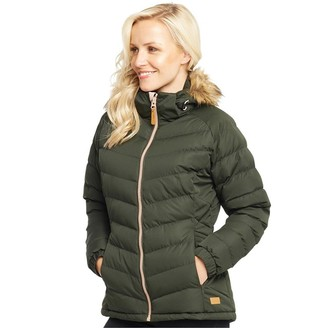 Trespass Womens Nadina Padded Hooded Jacket Olive