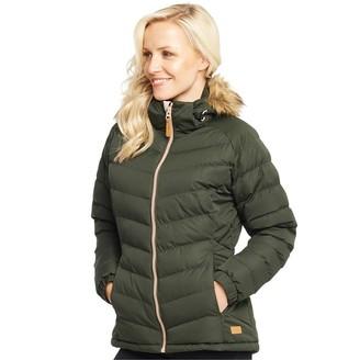 Trespass Womens Nadina Padded Hooded Jacket Olive