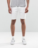 Asos Denim Shorts In Skinny White