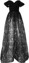 Saiid Kobeisy cold shoulder evening dress