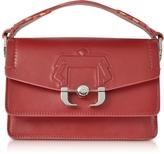Paula Cademartori Twi Twi Red Dahlia Leather Shoulder Bag