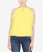 Catherine Malandrino Ruffled Tassel Top