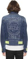 Kenzo Back Print Cotton Blend Denim Jacket