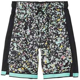 Nike Kids Mesh Shorts Just Do It (Little Kids/Big Kids) (Black/Emerald Rise) Girl's Shorts