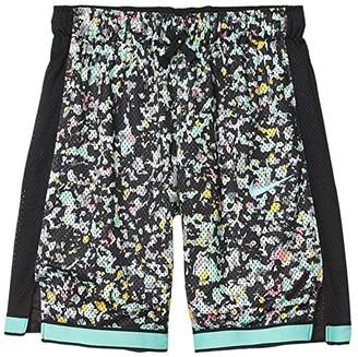 Nike Kids Mesh Shorts Just Do It (Little Kids/Big Kids) (Black/Emerald Rise) Girl's Shorts