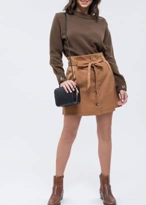 Blu Pepper Button Down Belter Skirt