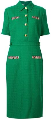 Gucci Collared Tweed Dress