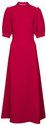Emilia Wickstead Victoria crepe maxi dress