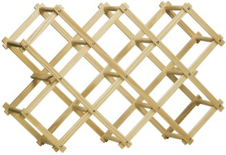 Premier Housewares Pine Wood 10 Bottle Folding Wine Rack