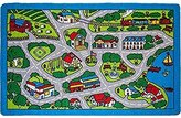 "Kids Rug Street Map in Grey 3' X 5' Children Area Rug for Playroom & Nursery - Non Skid Gel Backing (39"" x 56"")"