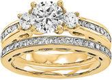 MODERN BRIDE 1 1/4 CT. T.W. Diamond 14K Yellow Gold Bridal Set