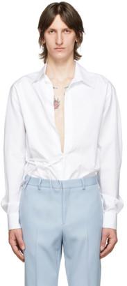 Givenchy White Button-Less Shirt