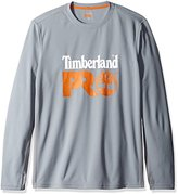 Timberland Men's Wicking Good Long-Sleeve T-Shirt with Logo