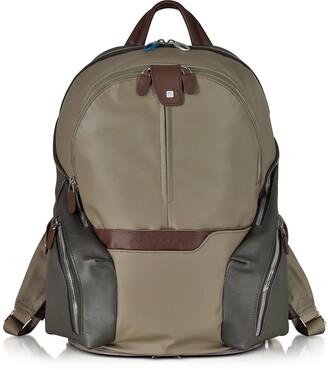 Piquadro Nylon & Leather Computer Backpack