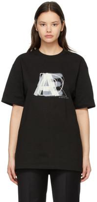 Ader Error SSENSE Exclusive Black AE Logo T-Shirt