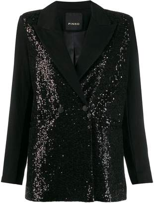 Pinko sequin double-breasted blazer