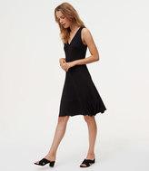 LOFT V-Neck Flare Dress