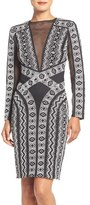 Tadashi Shoji 'Gavin' Embroidered Knit Sheath Dress
