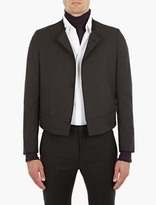 Lanvin Charcoal Collarless Suit Jacket