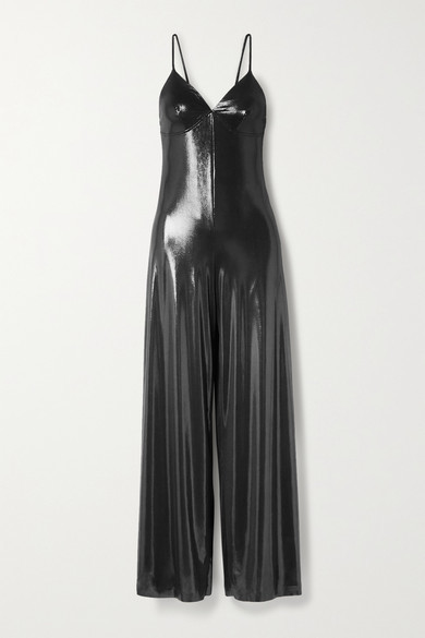 Thumbnail for your product : Norma Kamali Metallic Stretch-jersey Jumpsuit - Gunmetal
