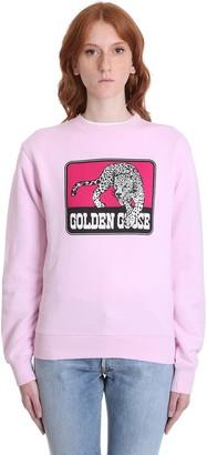 Golden Goose Catarina Sweatshirt In Rose-pink Cotton