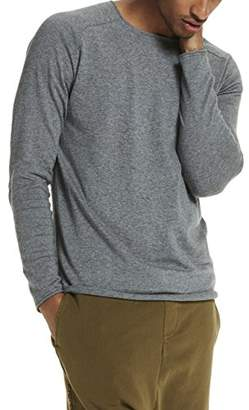 Scotch & Soda Men's Crewneck Pullover in Cashmere Blend Quality with Rolled Edge Jumper, (Grey Melange), Small