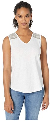 Aventura Clothing Thea Tank Top (White) Women's Sleeveless