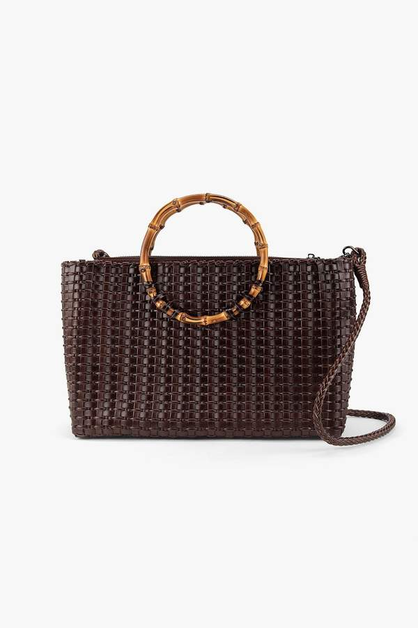 Genuine People Woven Bamboo Tote