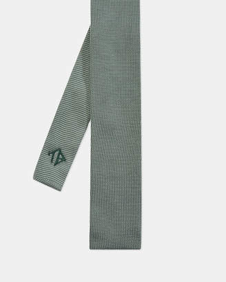 Ted Baker BORROW Embroidered knitted silk tie