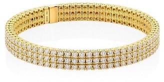 Zydo 18K Yellow Gold Diamond Stretch Bracelet