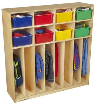 "Child Craft Childcraft 8 Section Preschool Cubby Locker Childcraft Size: 48"" H x 47.75"" W x 13.75"" D"
