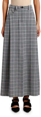 Giorgio Armani Glen Plaid Maxi Skirt
