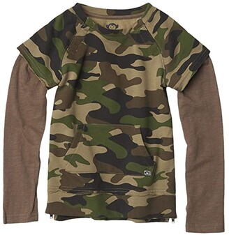 Appaman Adaptive Kids Freestyle Long Sleeve (Little Kids/Big Kids) (Green Camo) Boy's T Shirt