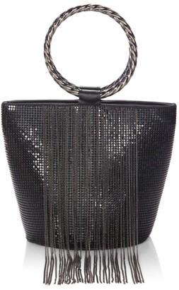 Whiting & Davis Fringe Metal Mesh Bracelet Bucket Bag