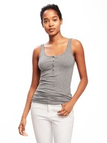 Old Navy First-Layer Fitted Henley Tank for Women