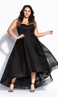 City Chic Sweet Jewel Maxi Dress - black