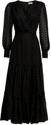 Rixo Polka-Dot Elsie Midaxi Dress