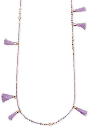 Kendra Scott Augusta Long Necklace (Rose Gold/Lilac Mother of Pearl Mix)