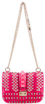 Valentino Lock Crystal Rockstud Flap Shoulder Bag