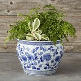 Williams-Sonoma Williams Sonoma Blue & White Ceramic Planter, Large