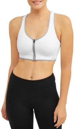 Avia Women's Seamless Zipfront Sports Bra, Style AV18191
