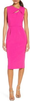 Donna Ricco Sleeveless Crepe Sheath Dress