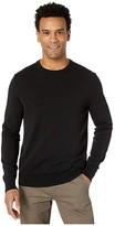 Calvin Klein Long Sleeve Liquid Touch Crew Neck Sweater (Black) Men's Clothing