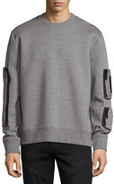 Public School Neoprene Pocket Sweatshirt, Gray